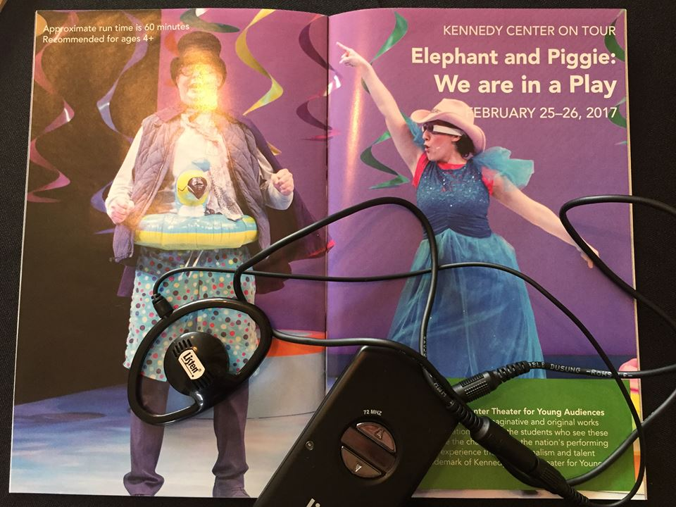 AD Equipment and a program for Elephant & Piggie at the COCA